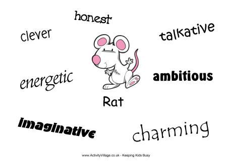 Personality Of The Rat In Chinese Zodiac Chinese Horoscope Zodiac Rat